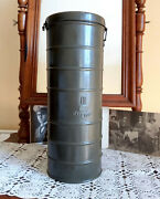 Vintage Gas Mask Canister, Wwii Ww2 Bulgarian Army, Made In Czechoslovakia