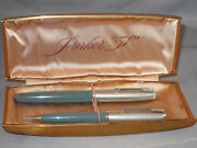 Parker Vintage 51 Special Fountain Pen And Pencil Set--fine Point--gray