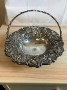 Robert Gainsford Antique Silver Basket With Swing Handle, Sheffield 1824