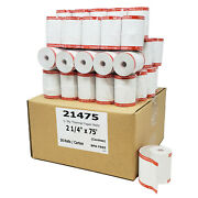 Verifone Vx520 2-1/4 X 75and039 Thermal Paper 500 Rolls Coreless 50 More Paper