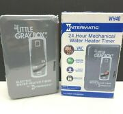 Mechanical Electric Water Heater Timer Switch Wh40 Little Gray Box 208-277 Vac