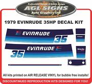 1979 Evinrude 35 Hp Reproduction Decal Kit Sticker