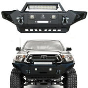 Fit 2005-2015 Tacoma Front Bumper Textured Black With 420w Led Lightsandlight Bar