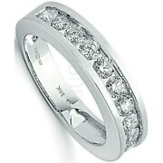 Certificated Diamond Eternity Ring Channel Set 1.00ct 18k White Gold Size J-q
