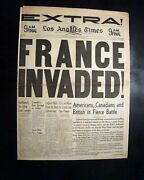 Great Dieppe Raid Allied Amphibious Tanks Invasion Of France 1942 Wwii Newspaper