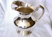 Vintage 8 1/2 Inch Reed And Barton X 766 Sterling Silver Water Wine Pitcher As27