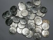 Bu Roll 40 Coins Of 1968 Silver 25 Cent Coins. Canada 25¢. 121