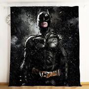 Batman Thicken Blackout Curtain Panels Living Room Thermal Window Drapes 1 Pair