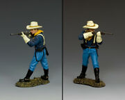 New Trooper Standing Firing Carbine King And Country Kx030 John Ford's Us Cavalry