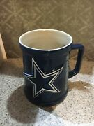 Dallas Cowboy Ceramic Stein Mug Large Star Nfl Official Collectible Free Usa