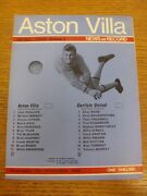 12/11/1969 Aston Villa V Carlisle United . Please Find This Item Offered By Bob