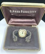 Girard Perregaux Triple Date Watch For Repair 44ae Stainless In Box 17 Jewels