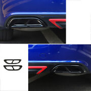 For Honda Accord 10th 2018-2020 Rear Tail Exhaust Pipes Frame Cover Black Steel