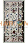 5and039x3and039 Marble Designer Dining Table Top Lapis Floral Inlay Restaurant Decors B614