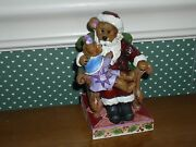 Boyds/jim Shore Santa With Holly-christmas Wishes-new 2013