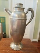 Antique Pewter Pitcher Marked Old Colonial Pewter W.s.n. 108 12 Tall