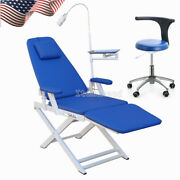 Dental Folding Chair Moblie With Rechargeable Led Light+ Doctor Assistant Stool