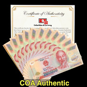 Vietnamese Dong Currency Vnd - 200 000 Dong - Uncirculated - Coa Authentic