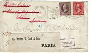 1899 Boston, Ma Machine Cancel On Local Cover, Re-directed To England And France