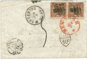 1870 Worcester, Ma Cancel On Ladies Cover To France, 2c 1869 Issue