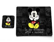 It All Started With Mickey Mouse Disney Quote Cork Cup Plate Coaster Placemat