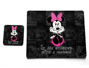 It All Started With Minnie Mouse Disney Quote Cork Cup Plate Coaster Placemat