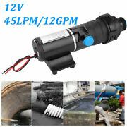 Boat Rv Marine 12v 12gpm 45 Lpm Mount Macerator Waste Water Pump For Camper New
