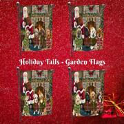 Christmas Fire Holiday Tails Dog Cat Pet Photo Lovers Decorative Garden Flag