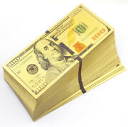 Wholesale 500 Pcs New 100 Color Gold Banknotes Paper Money Craft Collection
