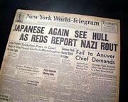 Pre-bombing Of Pearl Harbor Japanese Hawaii Attack Imminent 1941 Wwii Newspaper