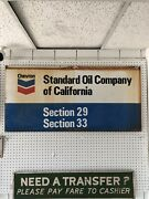 """Vintage Double Sided Porcelain Sign Chevron Standard Oil Company 4'x23 1/2"""""""