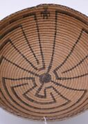 Pima Basket, Man In The Maza Or Elder Brother, C. 1910 Willow And Devils Claw