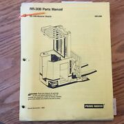 Prime Mover Rr-30b Parts Manual Book List Catalog Electric Reach Fork Lift Truck