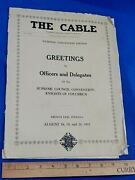 Rare 1931 The Cable Knights Of Columbus French Lick Indianapolis, Indiana