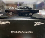 Hot Wheels 1/43 Scale 1970 Dodge Charger W/case Fast And Furious