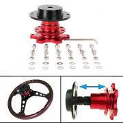 Universal Sports Steering Wheel Quick Release Snap Off Boss Kit Hub Adapter Red