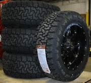 20x10 Fuel D531 Hostage Black Wheels 33 At Tires 8x6.5 Gmc Sierra 2500 3500