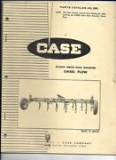 Case M5600 Series Rear Mounted Chisel Plow Parts Catalog No. 888