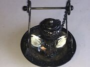 Antique Vintage Derby Silver Co. Silver Plate Quadruple Plate Ink Well Complete