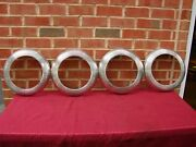 40 41 Ford Lyon Accessory Ribbed Trim Rings Fit Under Hubcaps