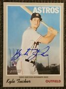 2019 Topps Heritage Houston Astros Kyle Tucker Real One Auto Blue Ink