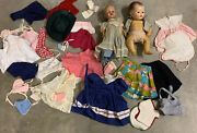 Antique Vintage Madame Alexander Doll And Baby Clothes