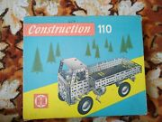 2pcs Vintage Germany Technical Constructor Game Metal Car Building Construction