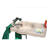 Portable Outdoor Sink Garden Watering System W/ Large Counter Top And Soap Area