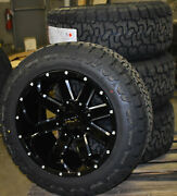 Ion 141 20x12 Black Wheels 33 At Tire Package 8x170 Ford Excursion F250 F350