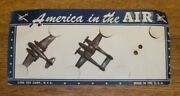 2 Vintage Lido America In The Air Plastic Toy Airplanes On Card