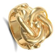 Menand039s Heavy Knot Ring Gents 30 Grams 9 Carat Yellow Gold Hallmarked British Made