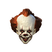 Trick Or Treat Studios It Movie Pennywise The Clown Deluxe Adult Latex Mask