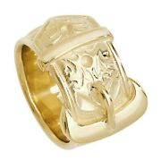 Yellow Gold Buckle Ring Gents Menand039s Heavy 30 Grams Band Hallmarked British Made