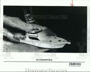 1996 Press Photo 54-foot Hatteras Convertible Yacht To Be At Houston Boat Show